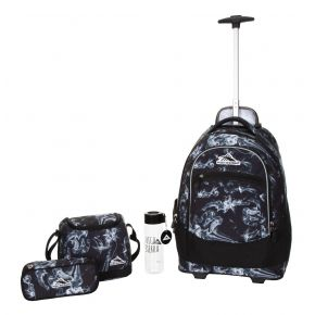 HIGH SIERRA HS CHASER SET (4 PCS)-BLACK STEAM/BLACK Backpack
