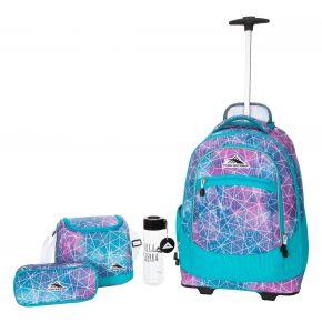 HIGH SIERRA HS CHASER SET (4 PCS)-SEQUIN FACETS/BLUEBIR Backpack