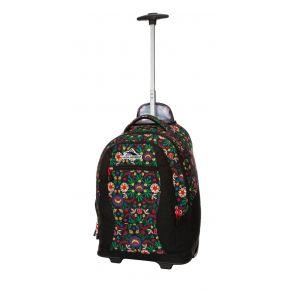 HIGH SIERRA HS CURVE WHEELED BACKPACK WESTERN STITCH/BLACK/CRIMSON Backpack