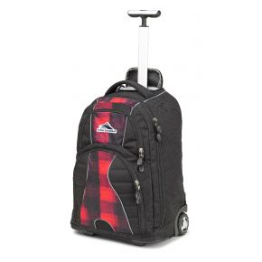 HIGH SIERRA HS FREEWHEEL WHEELED BP BUFFALO PLAID/BLACK/CRIMSON Backpack