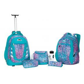 HIGH SIERRA HS TACTIC W BP SET (6 PCS)-SEQUIN FACETS/BL Backpack