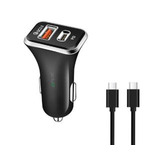 IENDS IE-AD641 Car Charger with Dual Port (Type-C and USB)