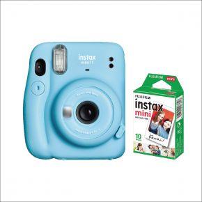 Fujifilm Instax Camera Mini 11 Blue With 10 sheets Film