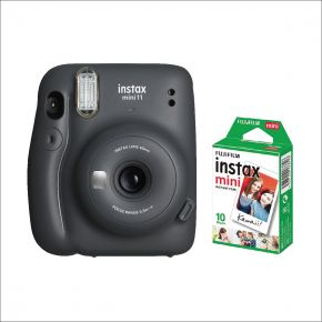 Fujifilm Instax Mini 11 Grey With 10 Sheets Film Pack