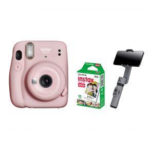 Fujifilm Instax Mini 11 Pink With Film and Zhiyun Smooth X Gimbal