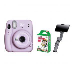 Fujifilm Instax Mini 11 Camera With Film and Zhiyun Smooth X Gimbal (Purple)
