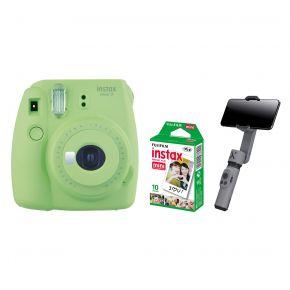 Fujifilm Instax Mini 9 Lime Green With Film and Zhiyun Smooth X Gimbal