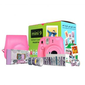 Fujifilm Instax Mini 9 Flamingo Pink Value Pack, Instax Mini 9 Offer