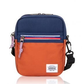 KRIS Vertical Bag - Navy/Cheshnut