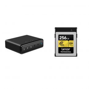 Lexar 256GB Professional CFexpress Type B Card WIth Lexar 512GB SSD