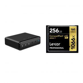 Lexar Compactflash (1066X) 256GB Card With Lexar 512GB SSD