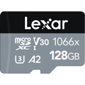Lexar 128GB Professional 1066x UHS-I microSDXC Memory Card with SD Adapter