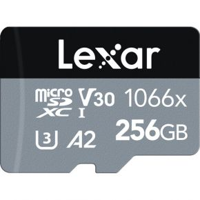 Lexar 256GB Professional 1066x UHS-I microSDXC Memory Card with SD Adapter
