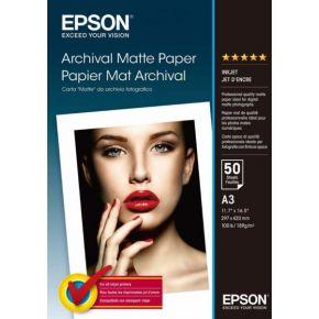 Epson C13S041344 A3 Archival Matte Paper/50 Sheet