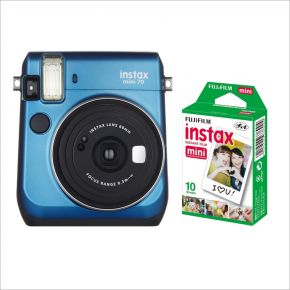 Fujifilm Instax Mini 70 Blue With 10Sheets Film