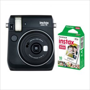 Fujifilm Instax Mini 70 Black With 10 Sheets Film