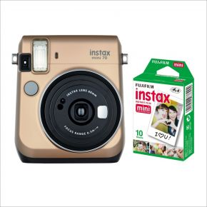 Fujifilm Instax Mini 70 Gold With 10Sheets Film