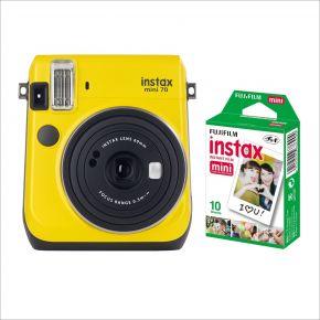 Fujifilm Instax Mini 70 Yellow With 10Sheets Film