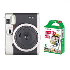 Fujifilm Instax Mini90 Camera (Black) Bundle With 10 Sheets Pack