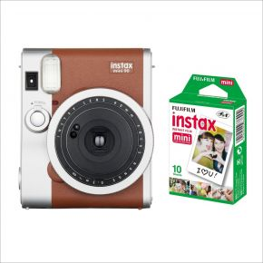Fujiifilm Instax Mini90 Brown Bundle with 10sheets Pack