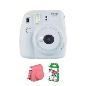 Fujifilm Instax Mini 9 Smokey White With 10 Sheets Film And Case