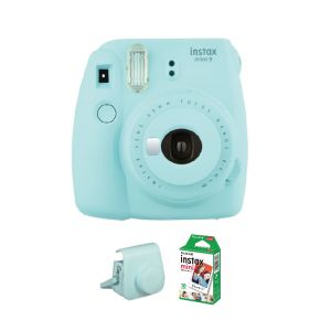 Fujifilm Instax Mini 9 Ice Blue With 10Sheets Film And Case