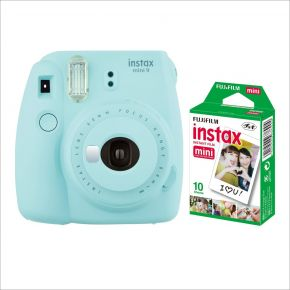 Fujifilm Instax Mini 9 Ice Blue With 10Sheets Film