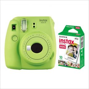 Fujifilm Instax Mini 9 Lime Green With 10 Sheets Film Pack