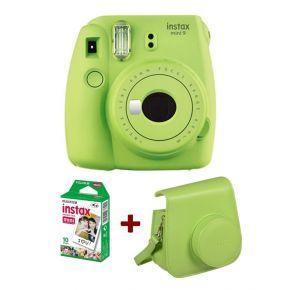 Fujifilm instax Mini 9 Lime Green + 10 Sheets Film Pack + Camera Case