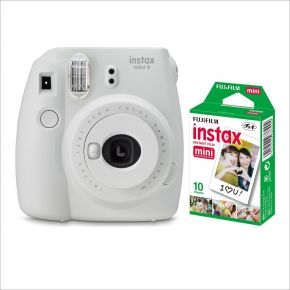 Fujifilm Instax Mini 9 Smokey White With 10 Sheets Film
