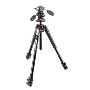 Manfrotto 190 Xpro Aluminium 3-Section Tripod With 3 Way Head