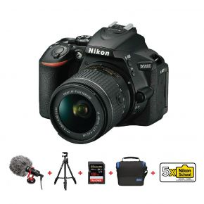 Nikon D5600 DSLR 18-55mm Kit With 128GB Card, Tripod, Microphone,Camera Bag And Cleaning Kit