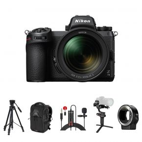 Nikon Z 7II Mirrorless Digital Camera with 24-70mm f/4 Lens Kit with FT-Z Adapter and Accessories Kit