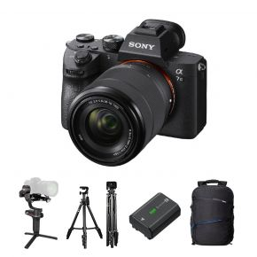 Sony A7 III With 28-70mm Full Frame Mirrorless Camera Kit With Weebill-S Gimbal,Battery,Backpack,Microphone And Tripod