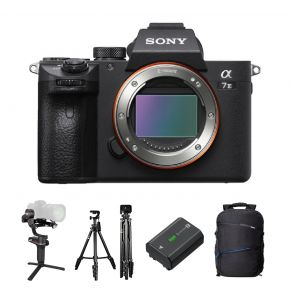 Sony A7 III Mirrorless Camera Body Only Offer With Zhiyun Weebill-S Gimbal,Tripod,Microphone,Battery And Backpack