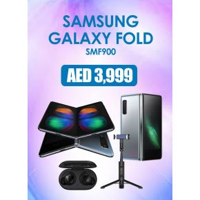SAMSUNG FOLD 12/512GB DS 4G SILVER with Free Samsung Galazy Buds and Samsung Selfie Stick