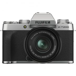 Fujifilm X-T200 Mirrorless Camera With 15-45mm Lens And Accessories Kit (Silver)