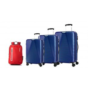 American Tourister Sky Cove Spinner 3Pcs Set (55+68+79 cm) With Buzz Backpack
