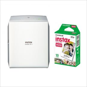 Fujifilm Instax Share SP-2 Printer Silver Bundle Offer With 10 Sheets Mini Film