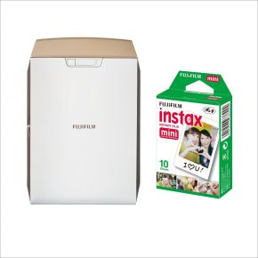 Fujifilm Instax Share SP-2 Printer Gold Bundle Offer With 10 Sheets Mini Film