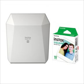 Fujifilm SP-3 Instax Printer White Bundle Offer With 10 Sheets Square Film