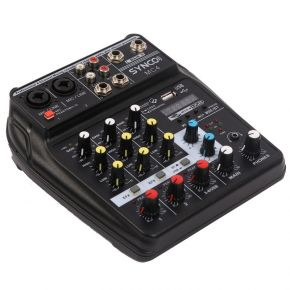 SYNCO Audio MC4 4-Channel Audio Mixer with USB Audio Interface