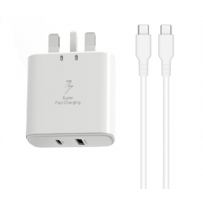 Trands TR-AD6496 Travel Charger 36W With Type C To Type C Cable
