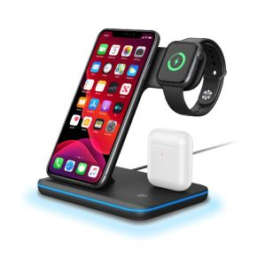 Trands TR-AD6953 3 in 1 Wireless Charger for Smartphone, iWatch and Air Pods
