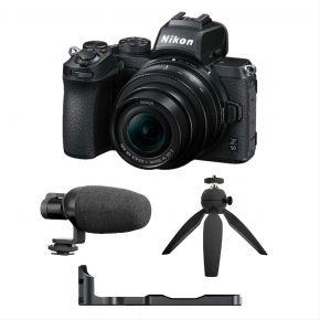 Nikon Z50 Vloggers Kit Bundle (Microphone + Camera rig +Table top tripod)
