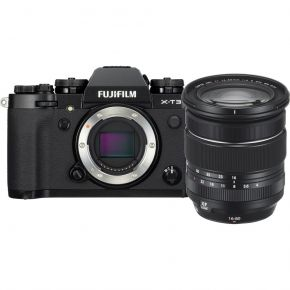 Fujifilm Digital Camera X-T3 Black - XF16-80MM Bundle With 128GB Card,Cleaning Kit,Tripod And Case