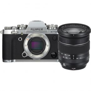 Fujifilm Digital Camera X-T3 Silver - XF16-80MM Bundle With 128GB Memory Card,Tripod,Cleaning Kit And Case