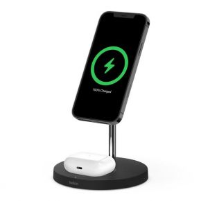 BOOSTCHARGE PRO Mag Safe 2 in 1 with 15W Wireless Charger Stand-UK-Black