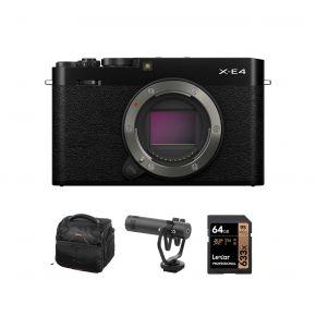 Fujifilm Digital Camera X-E4 Body (Black) with Accessories Kit