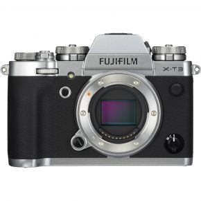 Fujifilm X-T3 Silver Body With Tripod,Cleaning Kit,128GB Card and Case